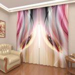 Креативные идеи штор с 3D рисунком