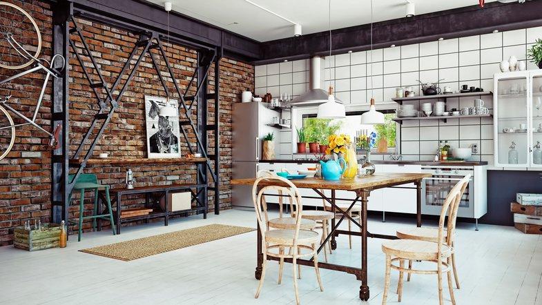 Как выбрать мебель в стиле лофт для гостиной и кухни