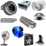 Основные виды производственных вентиляторов