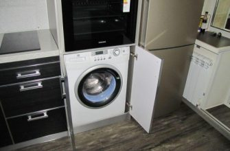 Как встроить стиральную машину на кухне