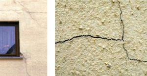 Трещины на поверхности фасада