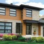Оформление фасадов двухэтажных домов, фото вариантов