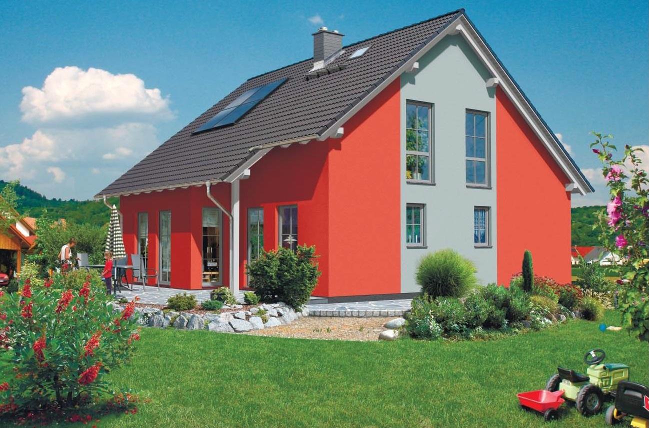 Дом из газобетона с последующей покраской
