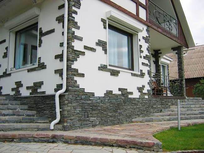 Декоративный камень для наружной отделки дома своими руками
