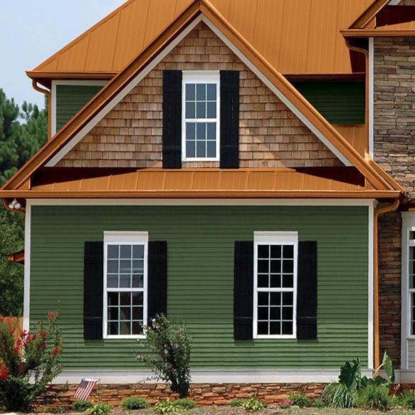 Фасад дома с панелями