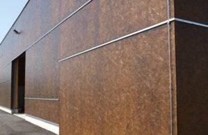 Фасад из ОСБ с декоративным покрытием