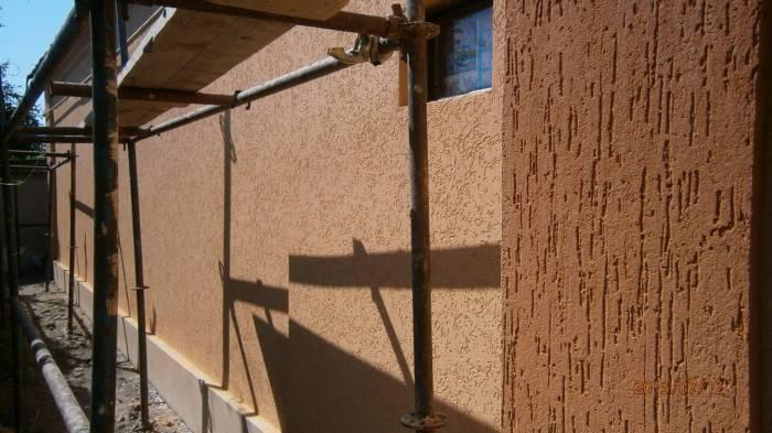 Фасад, покрытый штукатуркой