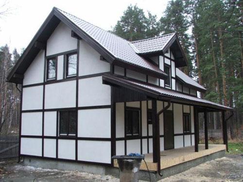 Фото фасада дома из сэндвич панелей