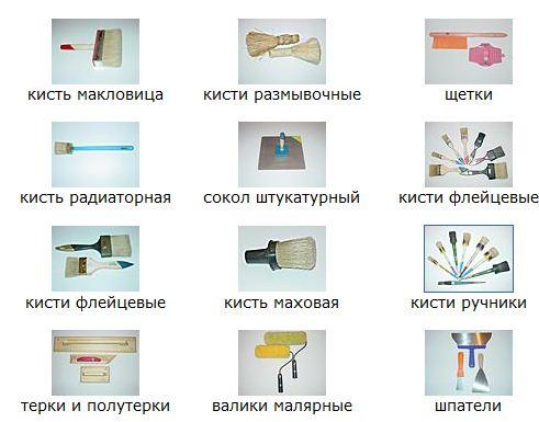 Инструменты для оштукатуривания