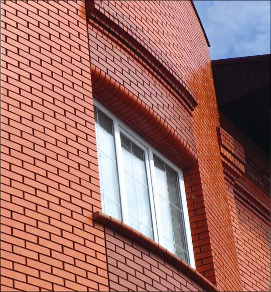Керамический кирпич в отделке фасада