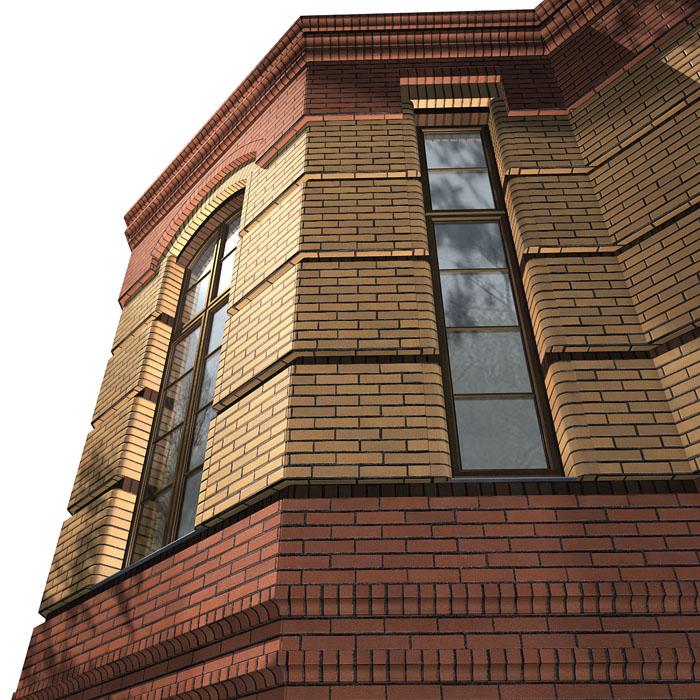 Кирпичная облицовка здания