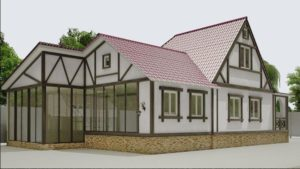 Классика в оформлении фасада загородного дома