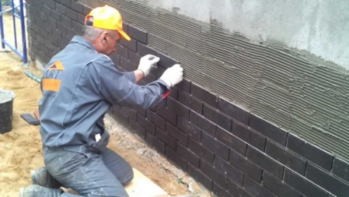 Мокрый способ монтажа клинкерной плитки