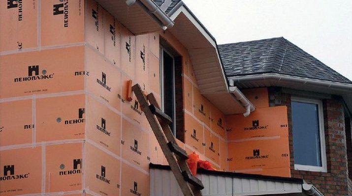 Монтаж пеноплекса на фасад дома