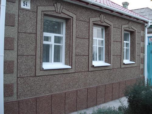 Мраморная крошка в отделке фасадов