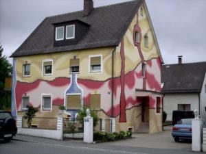 Необычная покраска фасада
