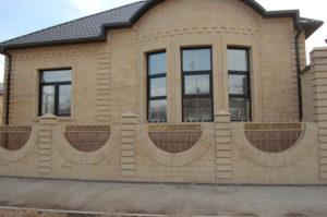 Облицовка фасадов дагестанским камнем