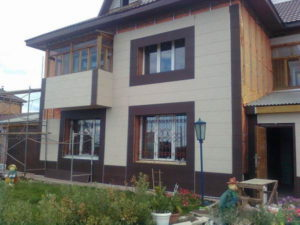 Оформление фасада в современном стиле