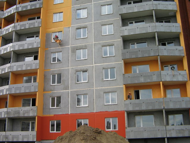 Окраска высотных зданий