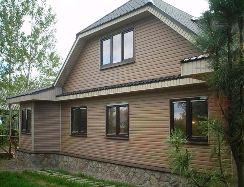 Отделка дома фасад фото частных домов