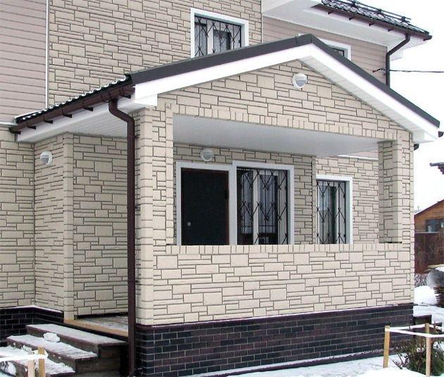Отделка дома цементным сайдингом