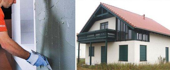 Отделка фасадов из газобетона