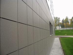 Пример утепления фасада из керамогранита