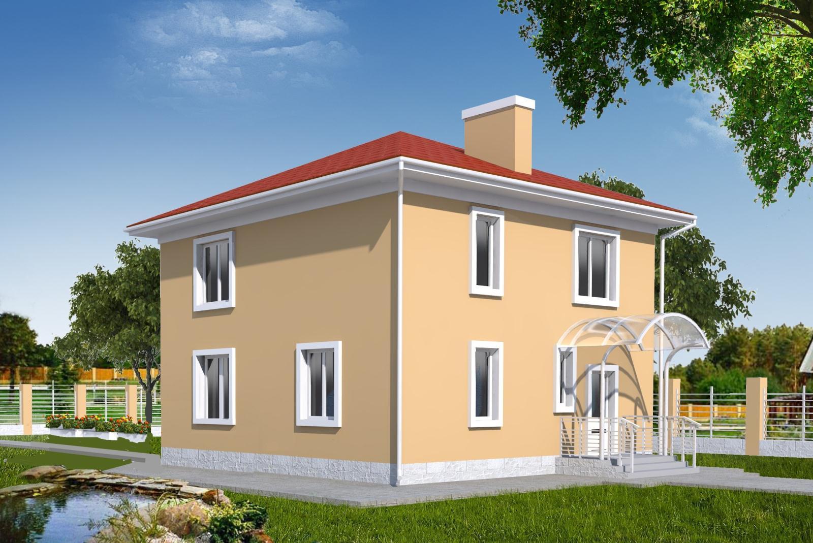 Простой квадратный дом