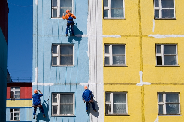 Ремонт фасадов жилых домов