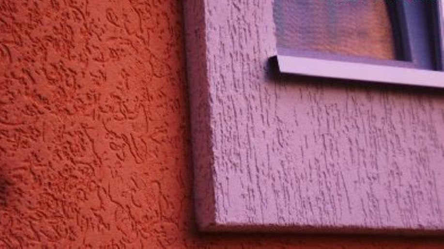 Штукатурка короед с покраской