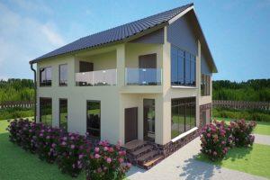 Современное оформление фасада дома
