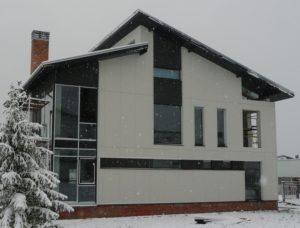 Современный фасад для частного дома