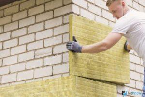 Стекловата в плитах для теплоизоляции фасада