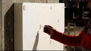 Утепление пенопластом фасада деревянного дома