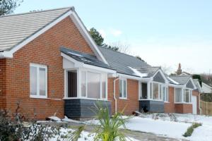 Вариант оформления одноэтажных домов