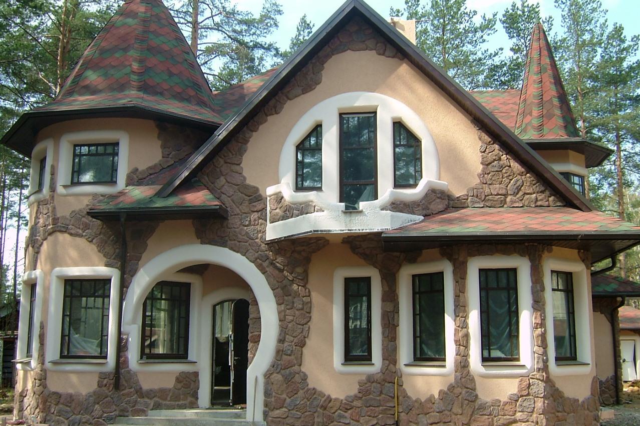 Что такое сайдинг и фото домов с сайдингом под камень