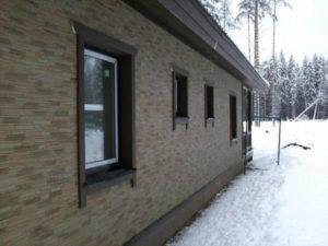 Фасады отделка искусственным камнем фото