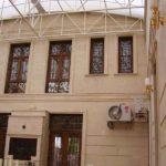 Бежевый фасад на основе плитки