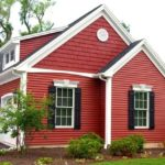 Бордовый современный фасад