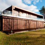 Частный дом с деревянным фасадом