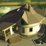 Как правильно оформить круглый фасад