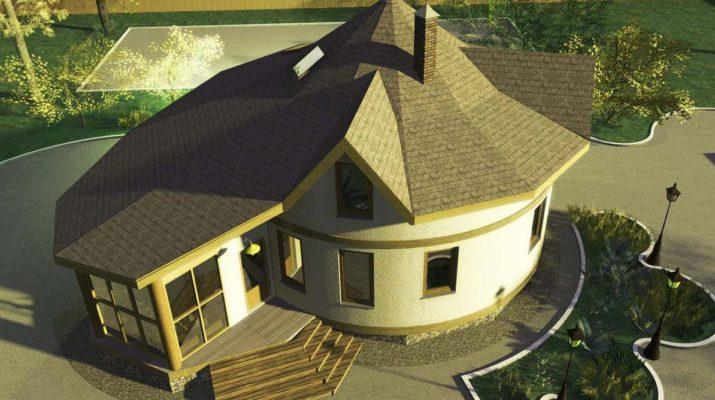 Частный дом с круглым фасадом