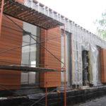 Деревянные современные фасады