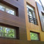 Деревянный фасад в разных оттенках