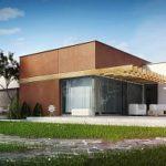 Дизайн фасада с плоской крышей