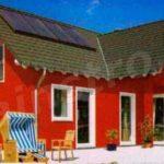 Дом с бордовым красивым фасадом