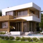 Дом с современным фасадом с плоской крышей