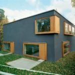 Дом, выполенный из серого фасада
