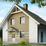 Дома с красивыми фасадами с двухскатной крышей