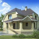 Фасад дома с террасой